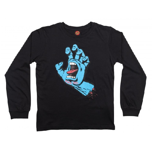 SANTA CRUZ YOUTH SCREAMING HAND LS Black