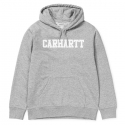 CARHARTT HOODED COLLEGE SWEAT Grey Heather / White
