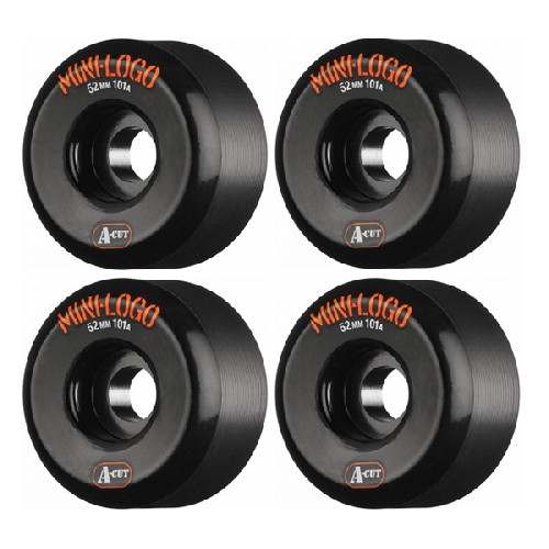 MINI LOGO A CUT WHEELS BLACK 101A 52mm