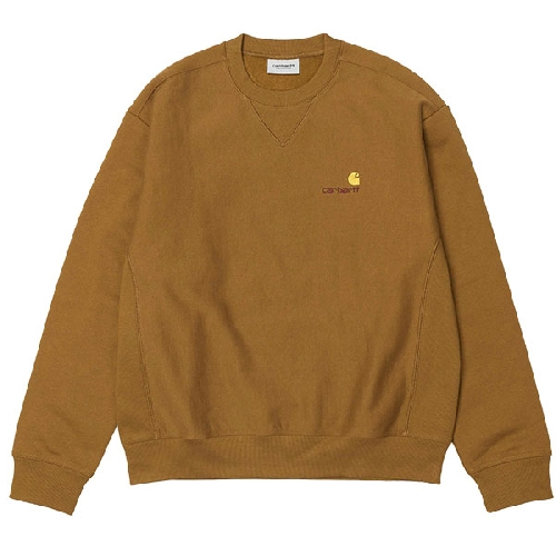CARHARTT AMERICAN SCRIPT SWEAT Hamilton Brown