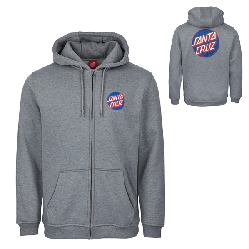 SANTA CRUZ DOT ZIP HOOD dark heather