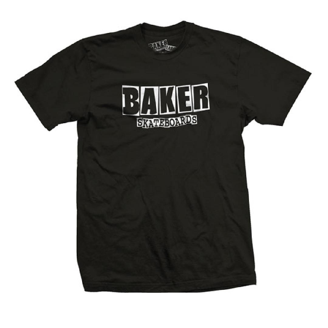 BAKER BRAND LOGO TEE black white
