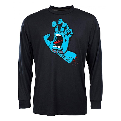 SANTA CRUZ SCREAMING HAND LS TEE black