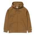 CARHARTT HOODED CHASE JACKET Hamilton Brown / Gold
