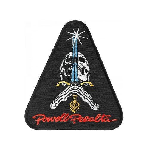 POWELL PERALTA PATCH SKULL AND SWORD 10cm x 11cm