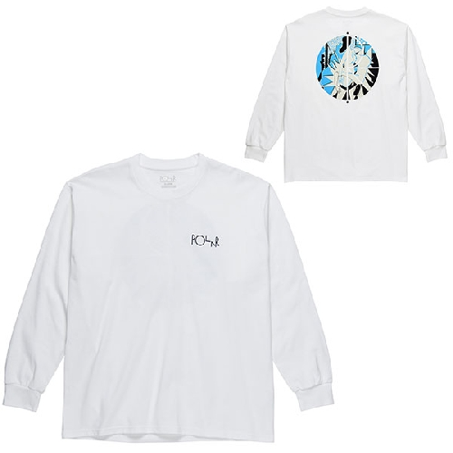 POLAR 69 FILL LOGO LS TEE White