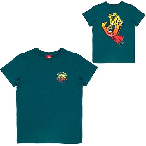 SANTA CRUZ YOUTH FADE HAND TEE Ink Blue