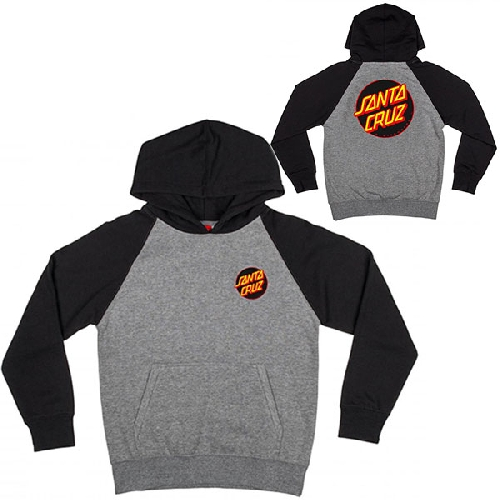SANTA CRUZ YOUTH OTHER DOT HOOD Black/Dark Heather