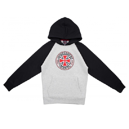 INDEPENDENT YOUTH DIRECTIONAL RAGLAN HOOD black/athletic heather
