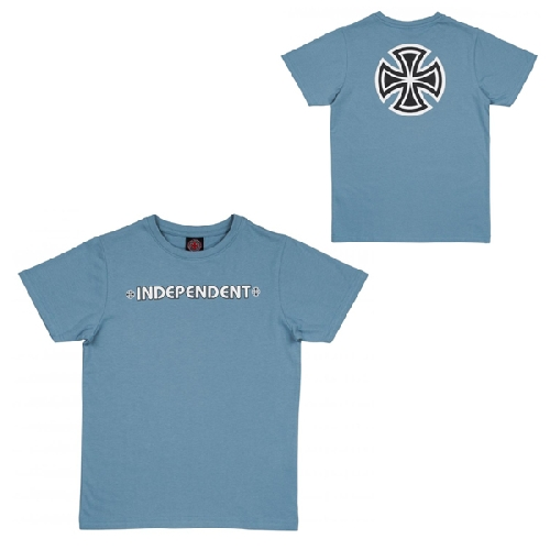 INDEPENDENT YOUTH BAR CROSS TEE carolina blue