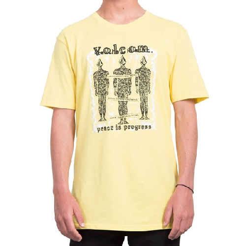 VOLCOM PROGRESSIVE BSC SS TEE yellow