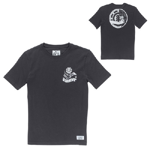 ELEMENT PAINTED BOY SS TEE TIMBER COLLECTION off black