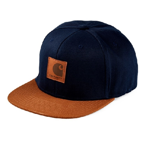 CARHARTT LOGO CAP BI COLORED Dark Navy Hamilton Brown