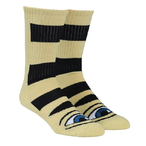 TOY MACHINE SECT EYE BIG STRIPE SOCKS camel