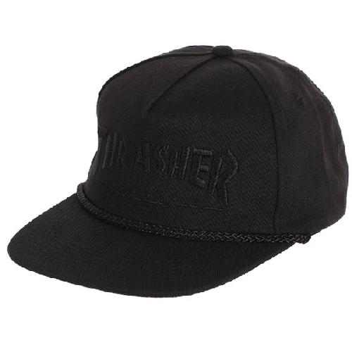 THRASHER ROPE SNAPBACK black black