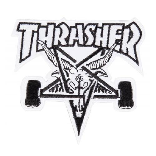 THRASHER PATCH SK8 GOAT white black