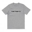 CARHARTT SCRIPT SS T SHIRT Grey Heather / Black