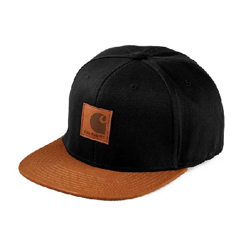 CARHARTT LOGO CAP BI COLORED Black / Hamilton Brown