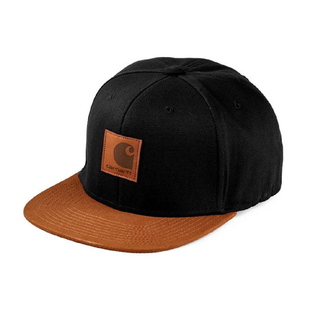 CARHARTT LOGO CAP BI COLORED Black / Hamilton Brown