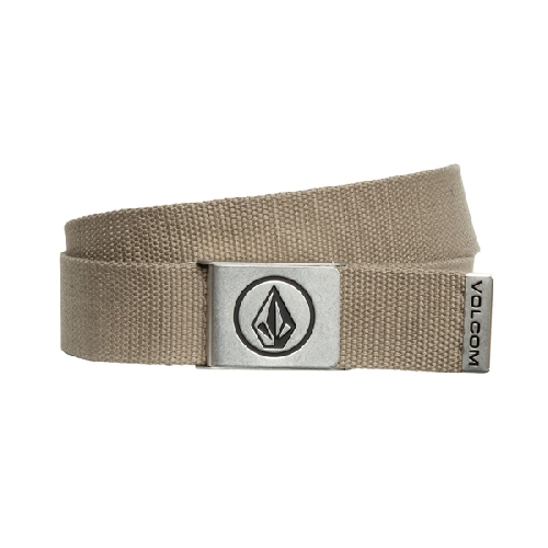 VOLCOM CIRCLE WEB BELT dark olive