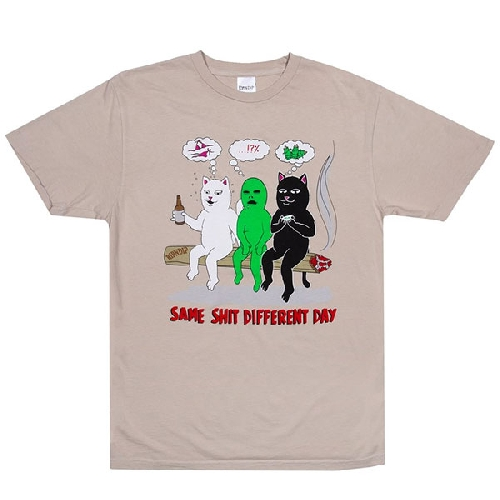 Ripndip SAME DREAMS TEE tan
