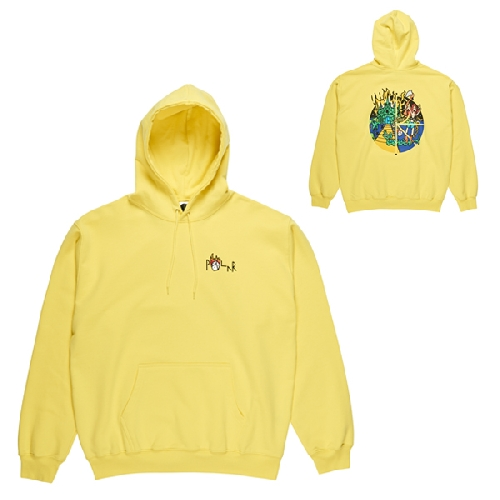 POLAR CASTLE FILL LOGO HOODIE Yellow
