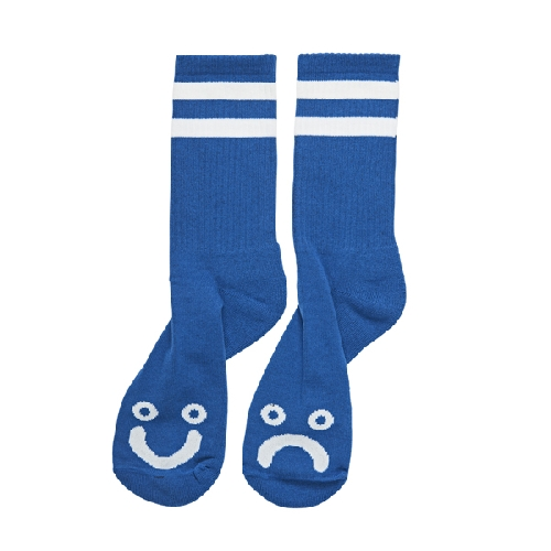 POLAR HAPPY SAD SOCKS Royal Blue