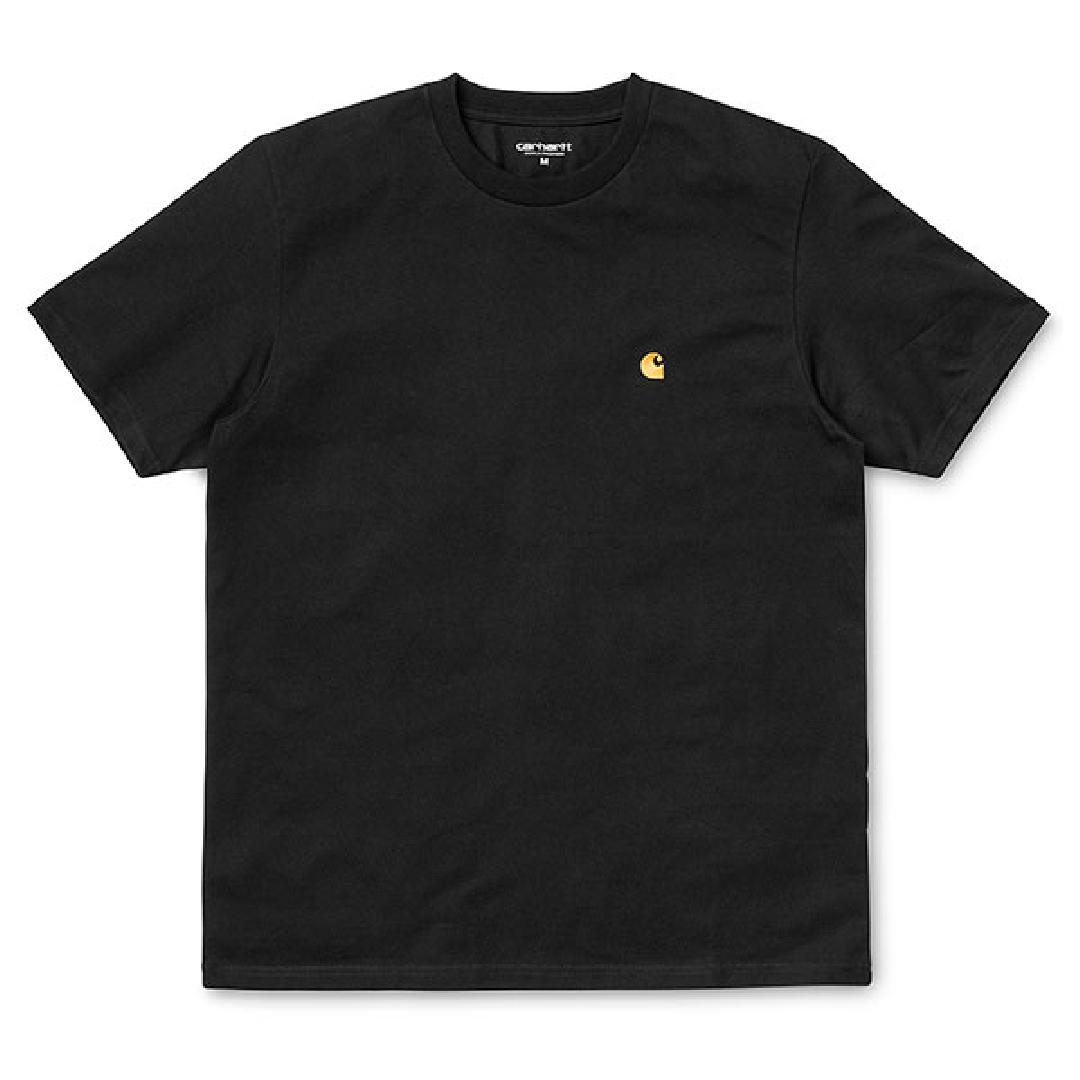CARHARTT CHASE TSHIRT Black / Gold