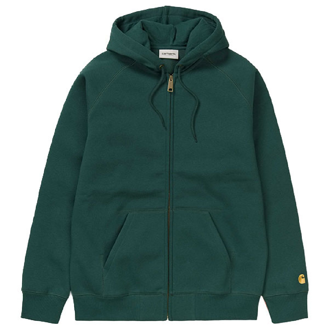 CARHARTT HOODED CHASE JACKET Dark Fir / Gold