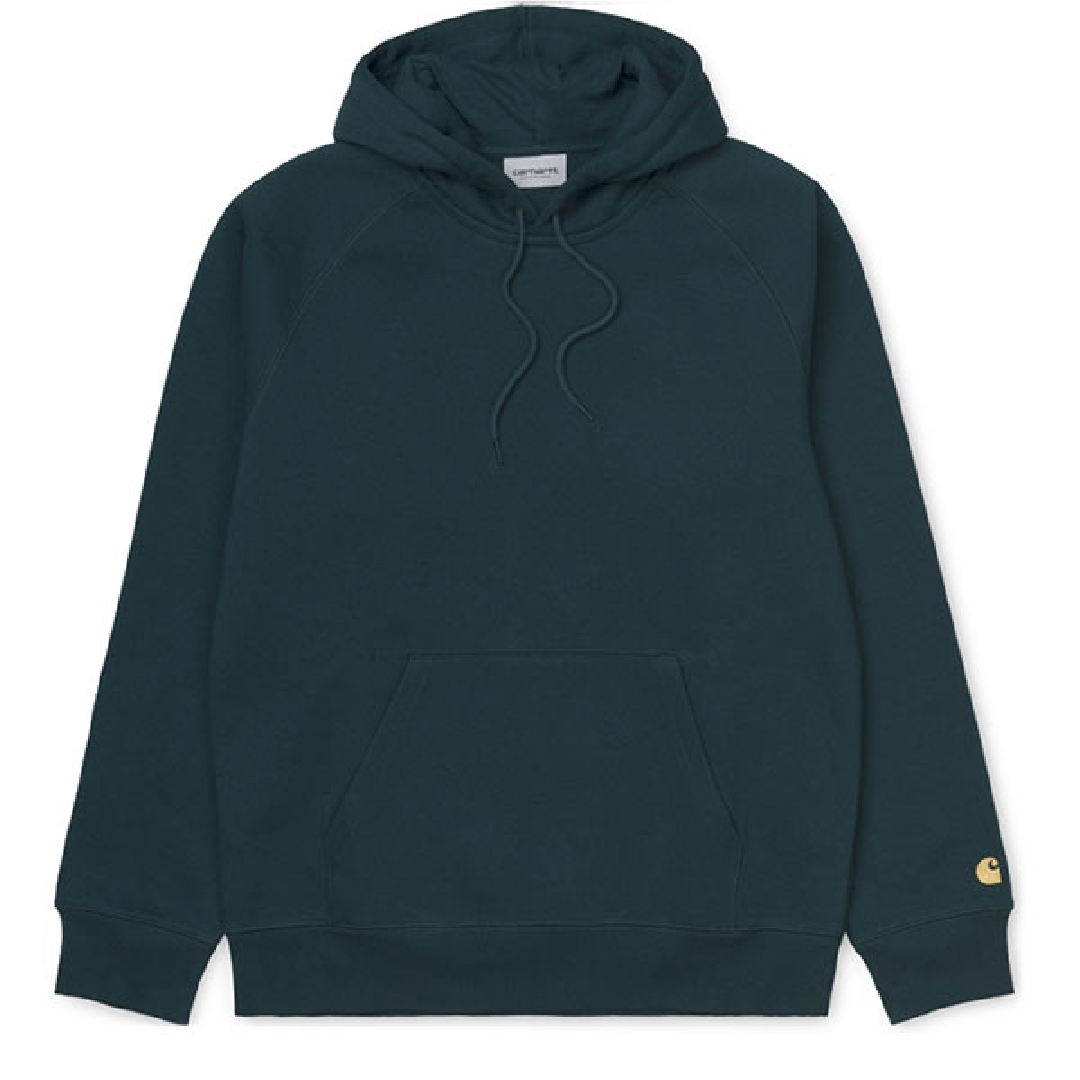 CARHARTT HOODED CHASE SWEAT Duck Blue / Gold
