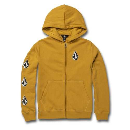 VOLCOM DEADLY STONES YOUTH ZIP HOOD gold