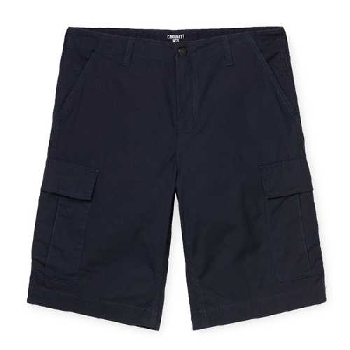 CARHARTT WIP REGULAR CARGO SHORT Dark Navy rinsed