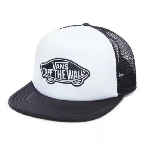 VANS CLASSIC PATCH TRUCKER CAP white black