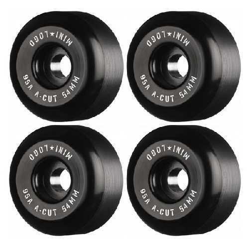 MINI LOGO A CUT HYBRID BLACK WHEELS 95a 54mm