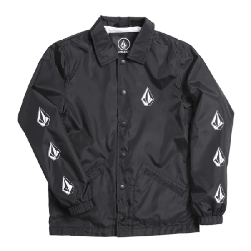 VOLCOM BREWS COACH YOUTH JACKET black print