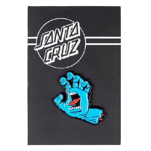 SANTA CRUZ SCREAMING HAND PIN blue