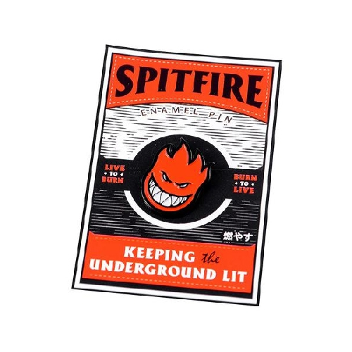 SPITFIRE BIGHEAD PIN black red
