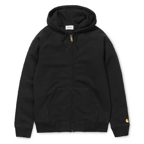 CARHARTT WIP HOODED CHASE JACKET Black / Gold