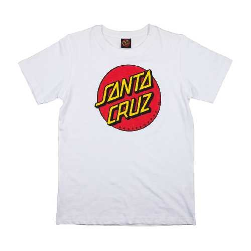 SANTA CRUZ YOUTH CLASSIC DOT TEE White