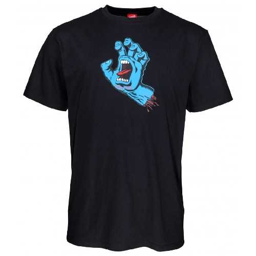 SANTA CRUZ SCREAMING HAND TEE Black
