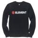 ELEMENT BLAZIN CREW flint black