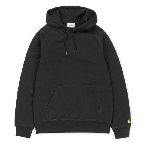 CARHARTT WIP HOODED CHASE SWEAT Black / Gold