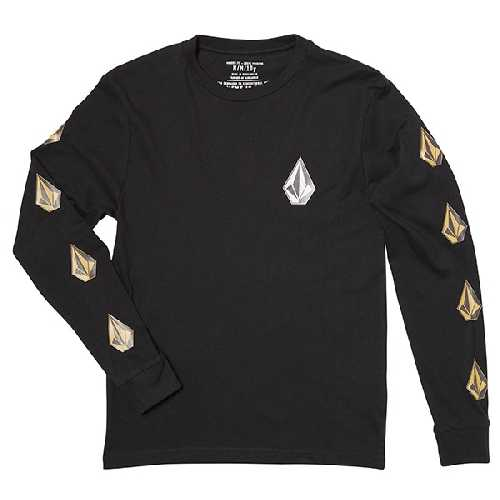 VOLCOM DEADLY STONE BSC LS YOUTH TEE black