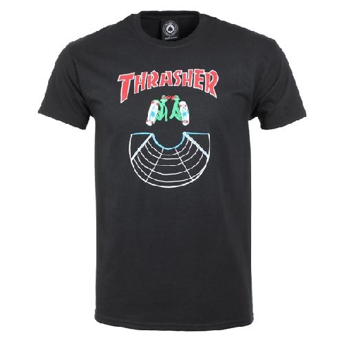 THRASHER DOUBLES TEE black