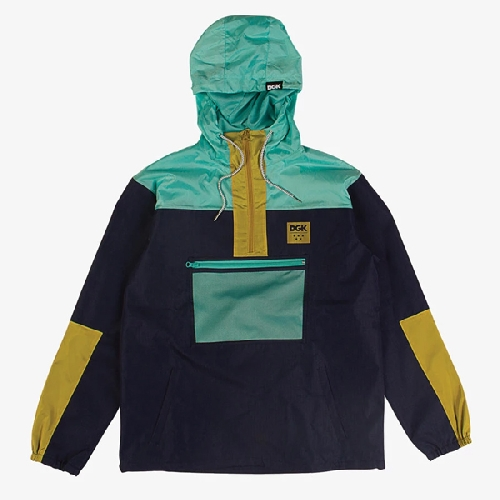 DGK RUCKUS WINDBREAKER JACKET navy