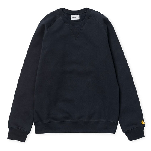CARHARTT CHASE SWEAT Dark Navy / Gold