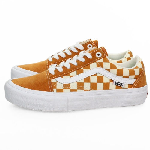 VANS OLD SKOOL PRO Golden Oak Checkerboard