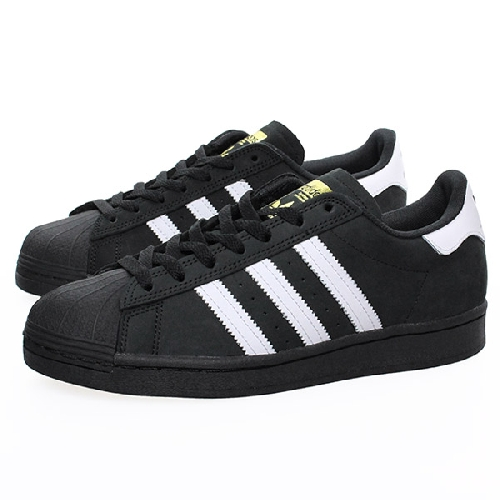 ADIDAS SUPERSTAR black / white / gold met