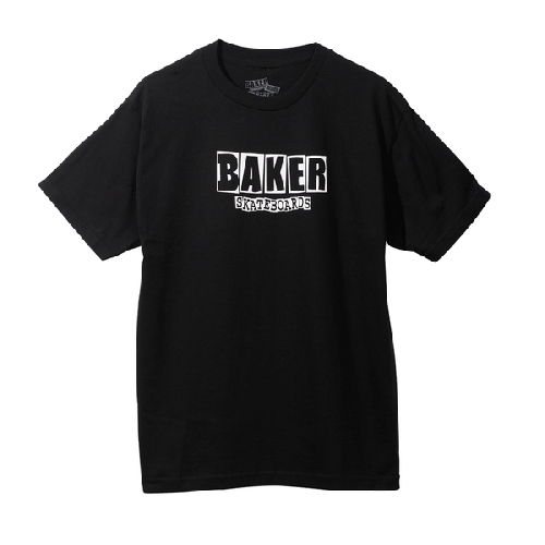 BAKER YOUTH BRAND LOGO TEE black white