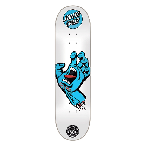 SANTA CRUZ SCREAMING HAND BLUE WHITE DECK 8 x 31.6